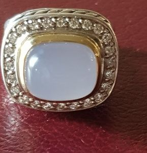 David Yurman Chalcedony Diamond Ring With 18k Gold